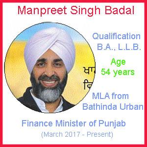 Finance Minister of Punjab, Manpreet Badal Contact Number