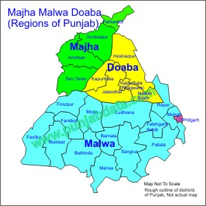 Majha Malwa Doaba - Regions of Punjab